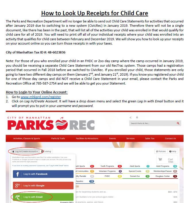 Child Care Receipt Info image Opens in new window